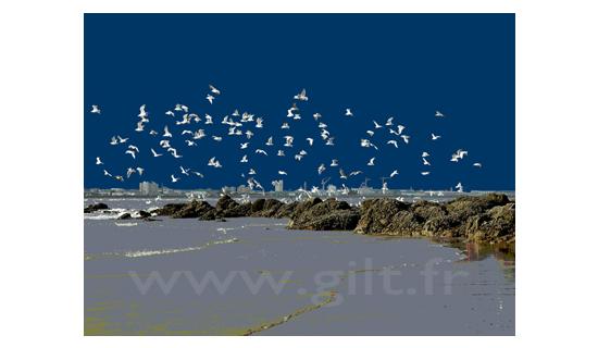 Gilt Paysages Mer N°: M01