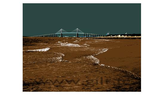 Gilt Paysages Mer N°: M26