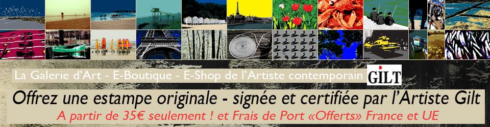 Gilt : bandeau du site de l'artiste gilt.fr